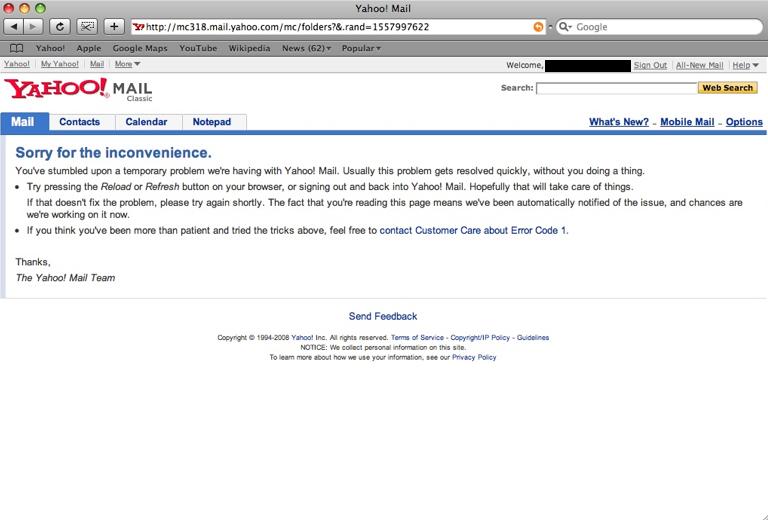 Yahoo!Mail Meltdown Coming? - kazabyte